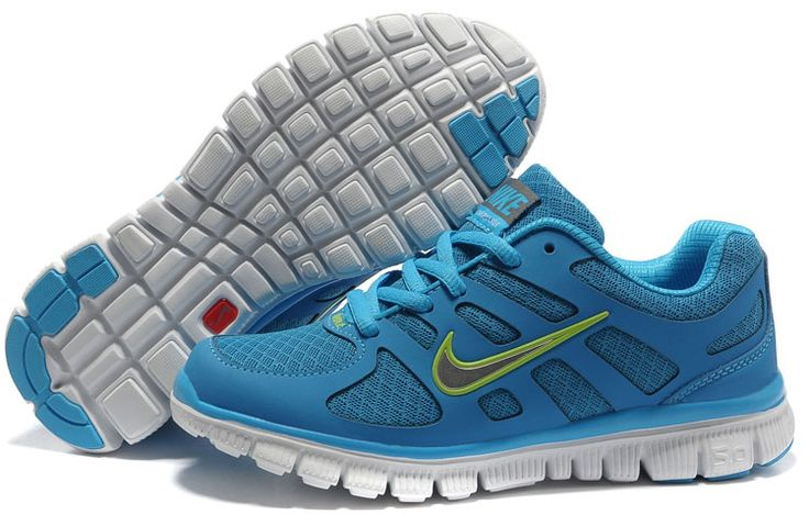 Buy Nike Free 5.0 Big Kids Running Shoes Blue White Green | Buy ...