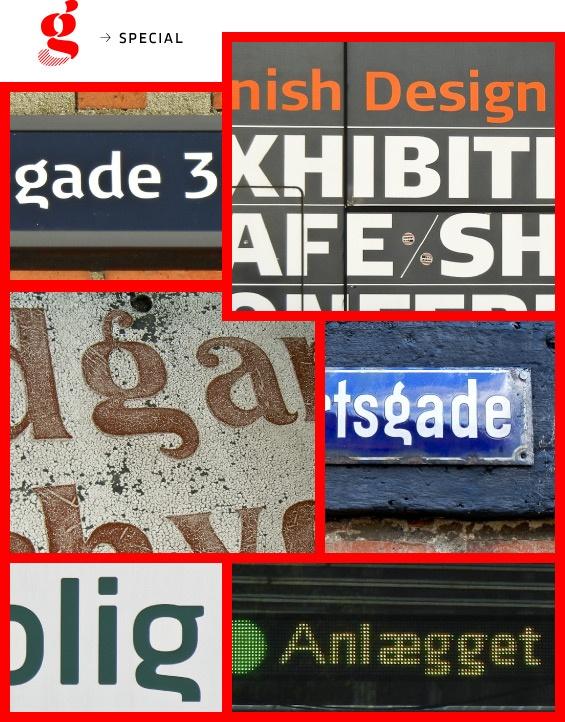 Skrifttype fra København  Danisch letter g