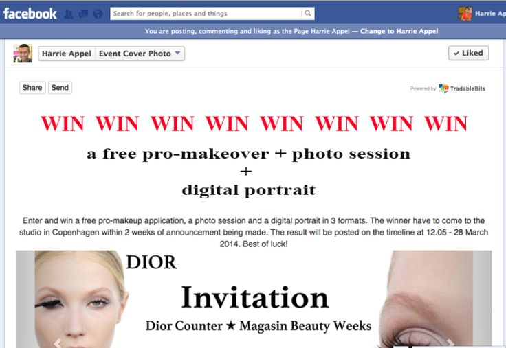 A great competition on Harrie Appel´s Facebook fan page.