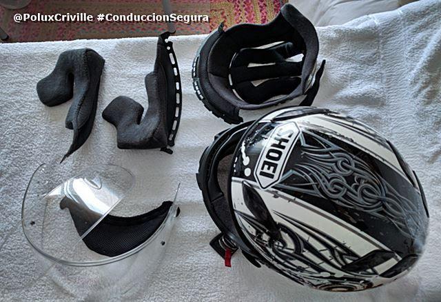Limpieza de mi casco Shoei XR1100