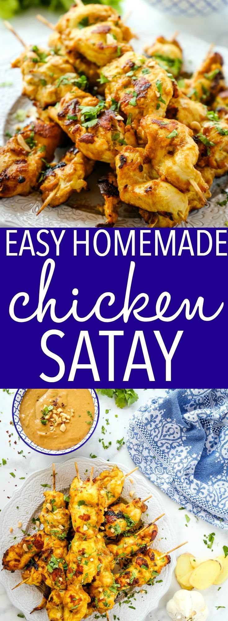 Easy Homemade Chicken Satay with Peanut Dipping Sauce