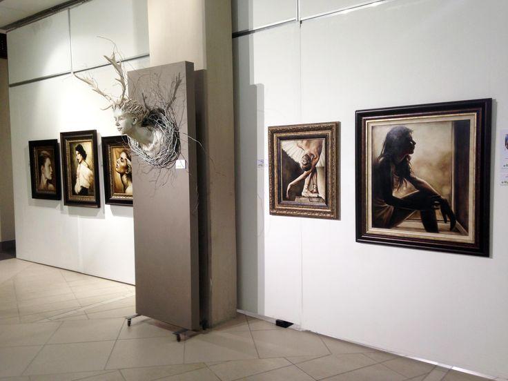 Unisa Art Gallery - CANSA Art Exhibition - Artwork by Joyce Carreira - Photograph by Megan Erasmus