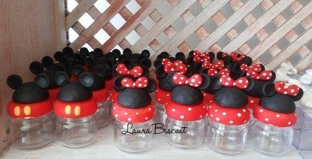 Potinhos de papinha Mickey e Minie