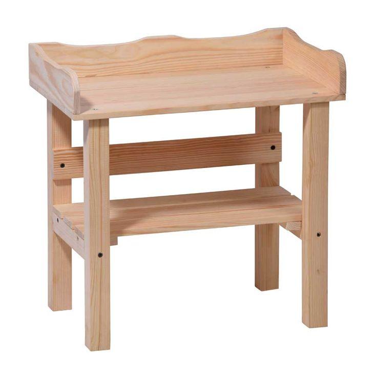 Pflanztisch für Kinder Kindertisch Spieltisch aus Holz massiv