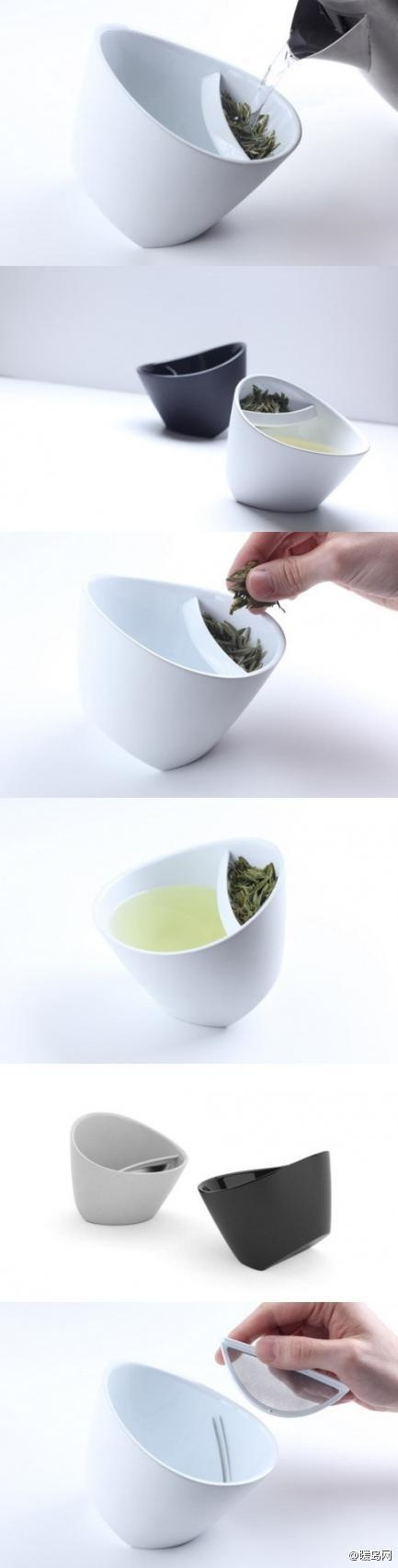 Magisso #Teacup with build in strainer. Made of BPA Free Plastic $22-$25