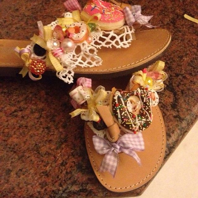playful sandal with precious stones and donuts Hellenic Handmade Sandals by Katerina & Angeliki Pipi