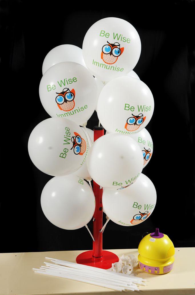 A bunch of White Balloons #Balloons #BalloonsPrinting