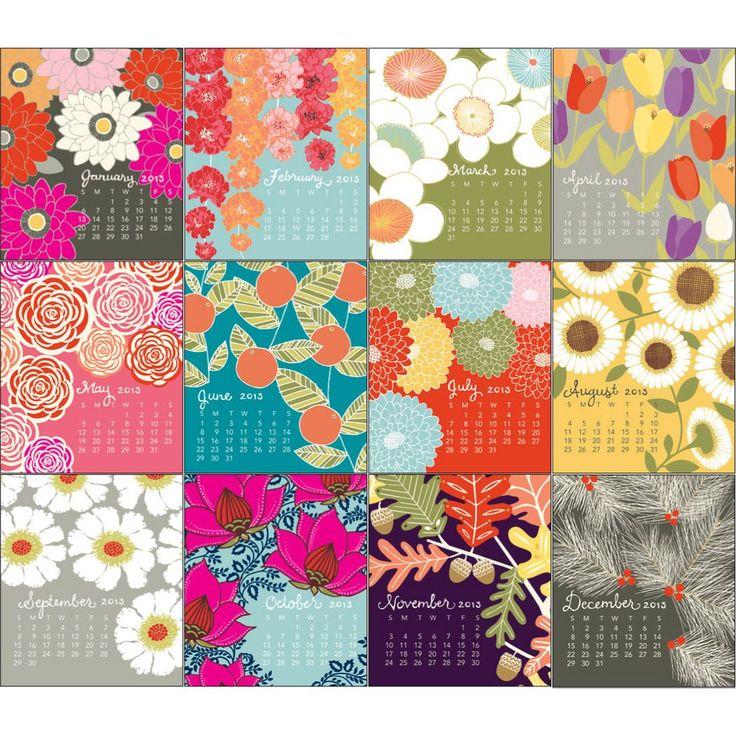 2013 Paper Source Floral Desk Calendar - Paper Source