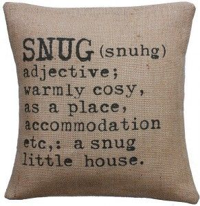 Snug cushion cover for a cosy home | Cosy Home Blog