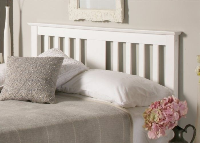 malmo white wooden bed frame double bed frame only - White Wood Bed Frame