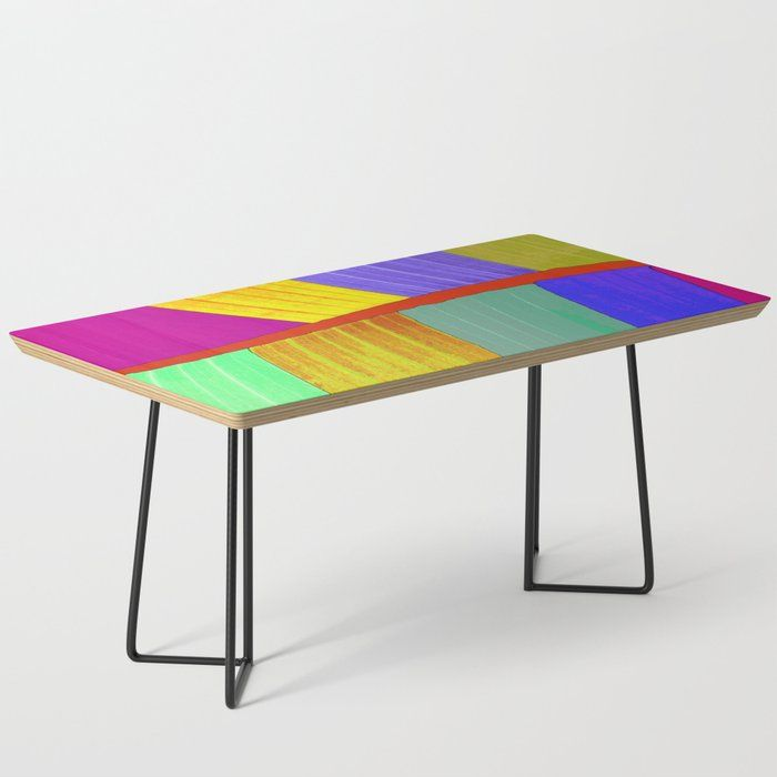 Tropical Super Colored Banana Leaf Coffee Table