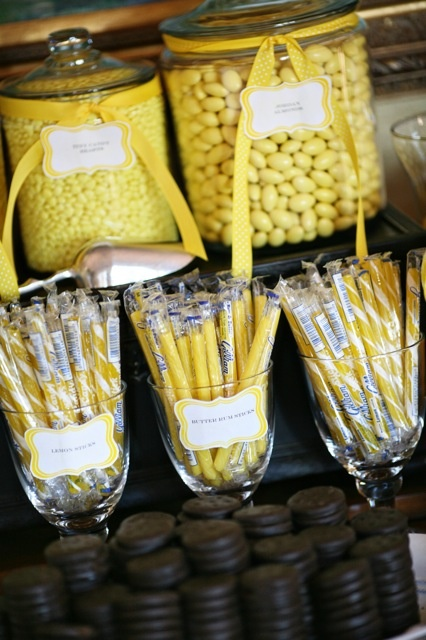 Yellow candy bar by Caplan Miller Events