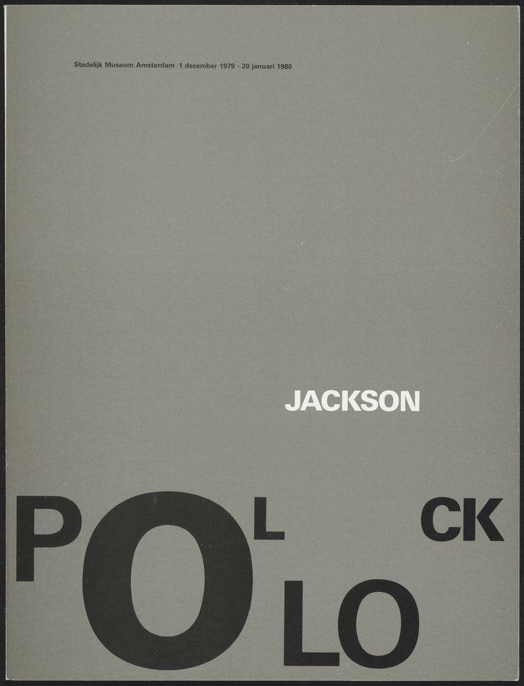 Wim Crouwel - Jackson Pollock at the Stedelijk Museum