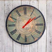 Retro europeia fazer o velho relógios de parede decorativa relógio de parede hanging Zhonghang Hai mapa(China (Mainland))