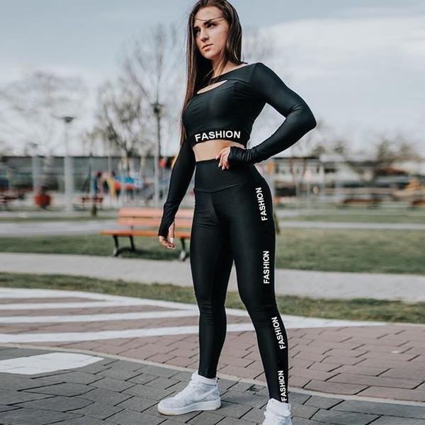 Women Fitness Black Leggings