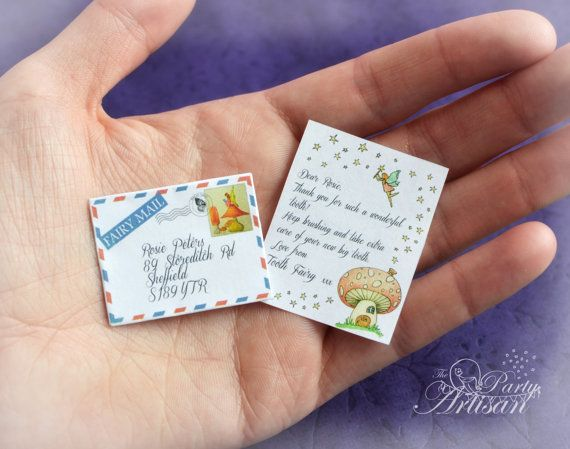 This one's even cuter!!!!!! Tiny Tooth Fairy letter & envelope. Printable by ThePartyArtisan, $4.99
