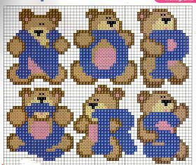 Teddy alphabet pattern (N-S)