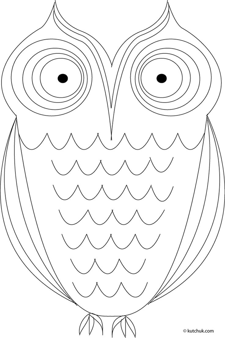6 lovely owls for coloring or crafting