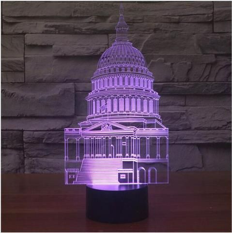 United States Capitol  3D illusion night light
