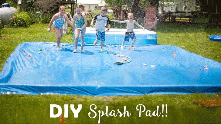 Diy splash pad splash pad blow up pool diy