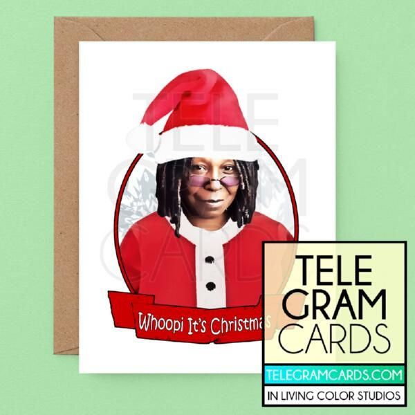 Best Kanye Gifts 2020 Christmas Whoopi Goldberg [ILCS 001A XMS] Whoopi It's Christmas in 2020