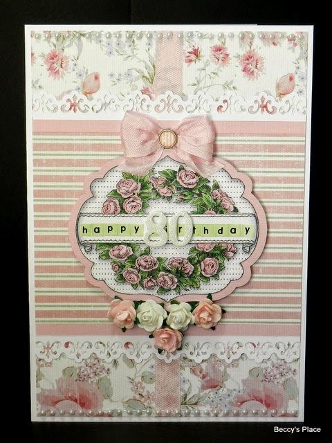 Beccy's Place: 80th Birthday Card