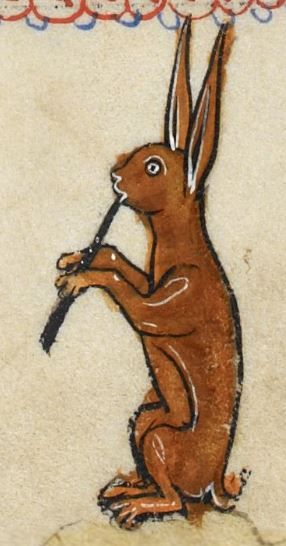 "Detail from ""The Rutland Psalter"", medieval (c1260), British Library Add MS 62925. f 100r"