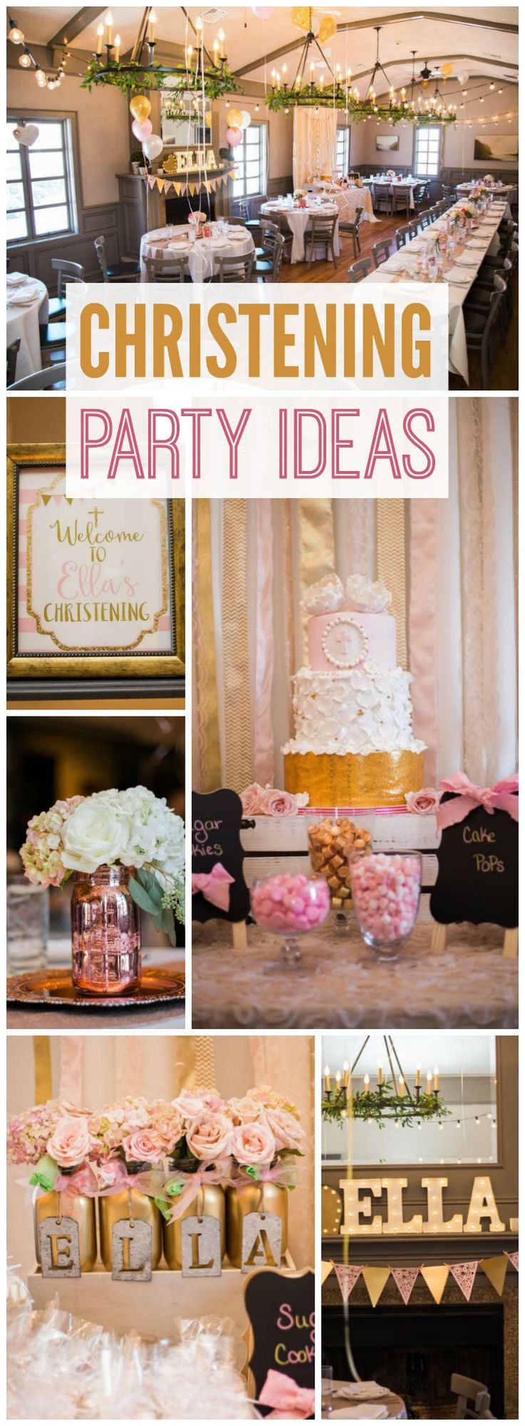 So many lovely details at this christening party! See more party ideas at CatchMyParty.com!