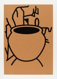 Patrick Caulfield, Fern Pot 1980 © The estate of Patrick Caulfield.