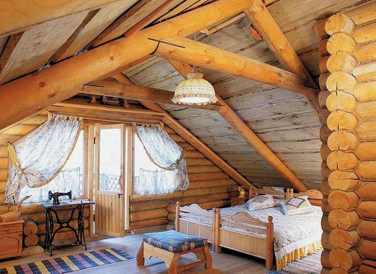 деревянная спальня интерьер7