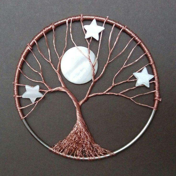 Winter night wire tree