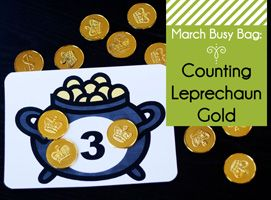 March Busy Bag: Counting Leprechaun Gold - Second Story Window