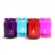 Glass Candle Holders Set of 4