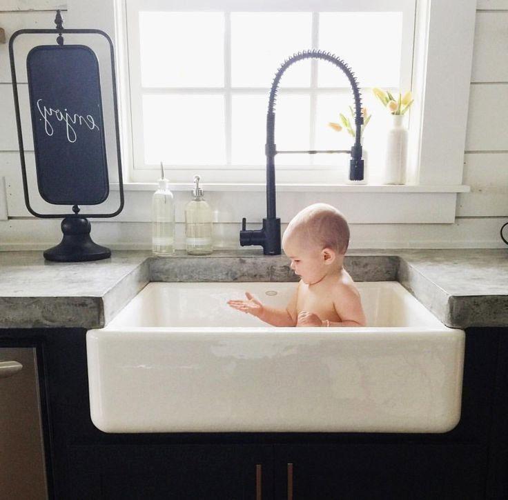 Kitchen Sink Baby Bath Tub Beautiful Sinks Astounding Farmhouse