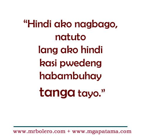 Tagalog Quotes Enchanting Best 25 Tagalog Quotes Ideas On Pinterest  Hugot Quotes Tagalog