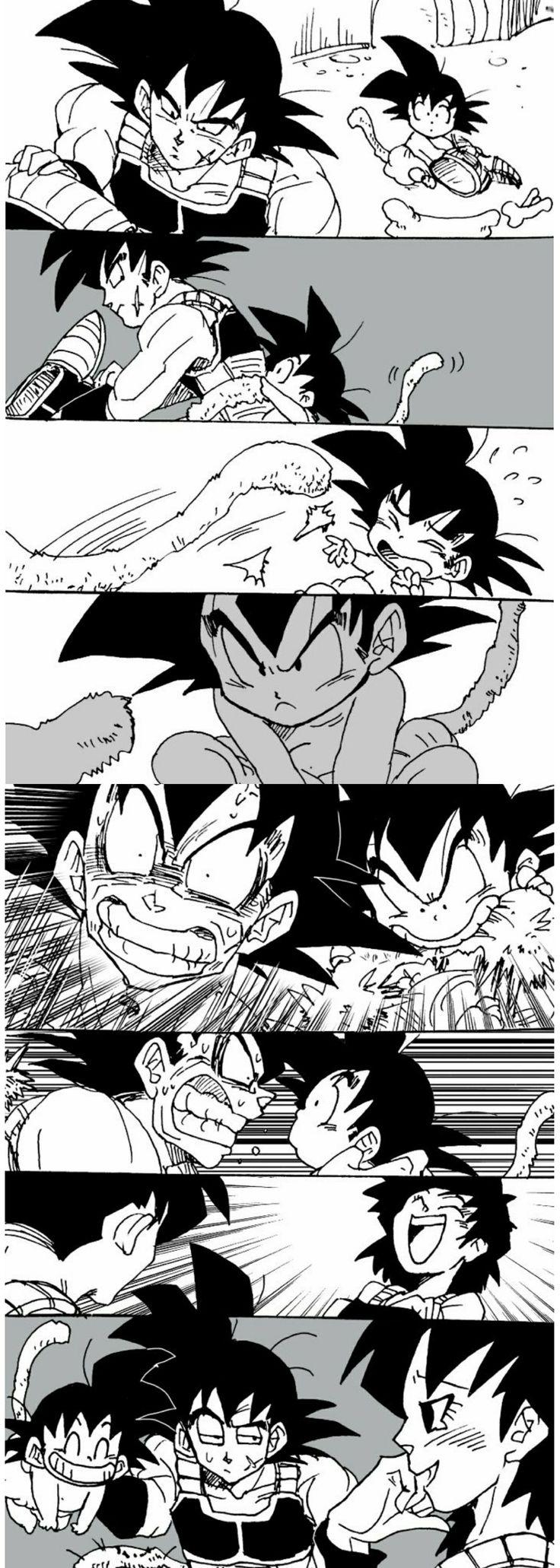 Bardock, Goku, and Gine❤