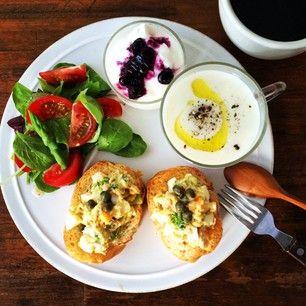 週3回、朝ごはんをプレートにして食べて穏やかな時間を過ごす。