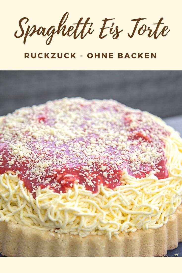 Spaghetti Eis Kuchen Noch Leckerer Als Das Spaghetti Eis Aus Der Eisdiele Ideal Fur Kindergeburtstage Ohne Backen In 15 Minuten Eiskuchen Spaghetti Eis Kuchen Ohne Backen