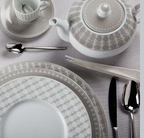 Subtle palette of Pompons by Philippe Deshoulieres: Table Settings, Tabletop Time, Dinnerware Picking, La Table, Table Top