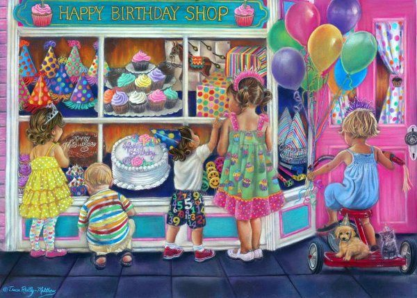 Happy Birthday by Tricia Reilly-Matthews (American)