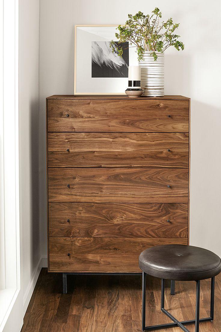 Modern bedroom dresser - Hudson Dressers With Steel Base