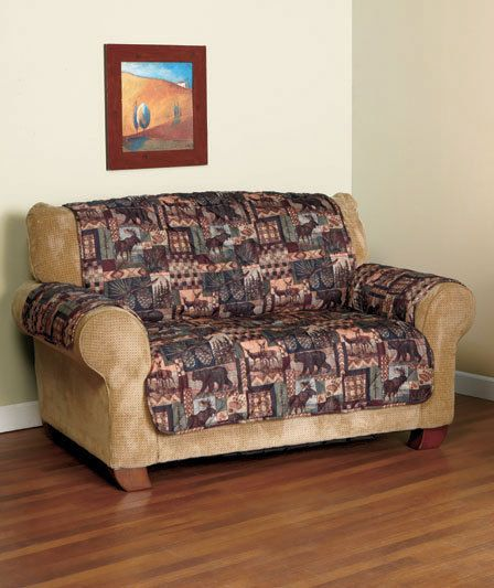 Lodge Print LOVESEAT COVER Lodge-Look FUNITURE COVER Country Home Decor