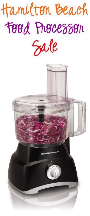 Hamilton Beach Food Processor Sale: $23.99!!  Make your life in the kitchen dramatically easier and score a deal with this pre Black Friday Sale!