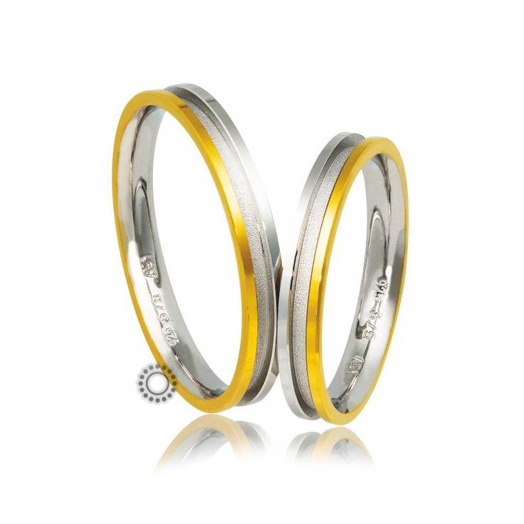 Βέρες γάμου Στεργιάδης B-2-YW | Ιδιαίτερες ανατομικές λεπτές δίχρωμες βέρες με εσωτερικό επίπεδο λούκι σε ματ φινίρισμα | Βέρες ΤΣΑΛΔΑΡΗΣ #βέρες #βερες #γάμου
