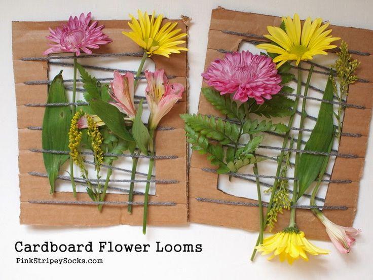 Cardboard Flower Looms