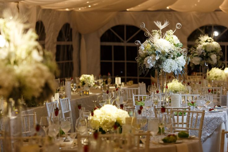 Winter wonderland wedding centerpieces secret garden