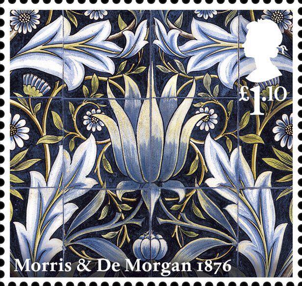 Morris & Co.                                           Issued May 2011.                                  Acanthus.                                       William Morris & William De Morgan 1876