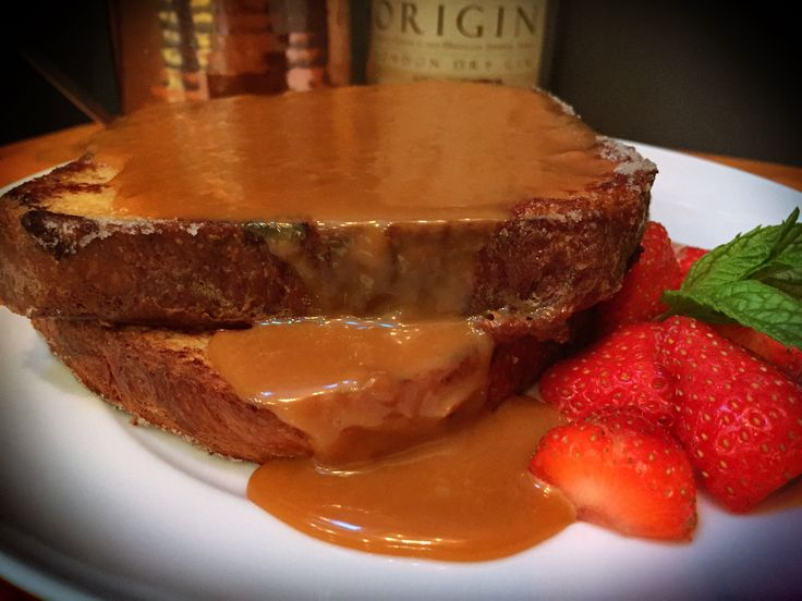 Boozy Salted Caramel French Toast   Recipe   Salted Caramels, Toast ...