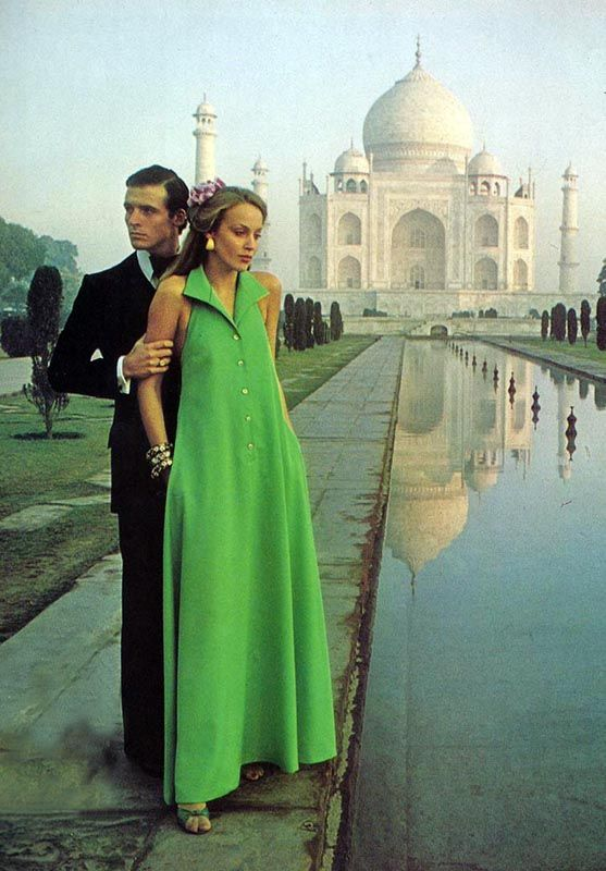 Jerry Hall for Vogue Patterns, India 1975