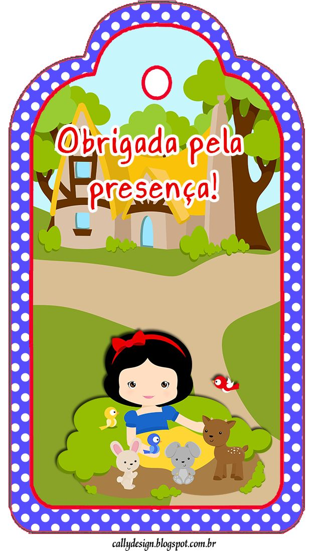 "CALLY'S DESIGN: Kit Personalizado Tema ""Branca de Neve Cute"""